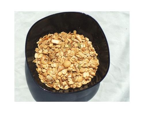 dried subtropical fruit macadamia nuts in muesli