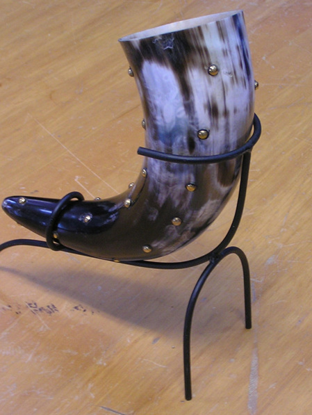 Drinking Horn Type 12 - With Brass Studs