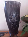 Drinking Horn Type 18 - Engraved Celtic Cross