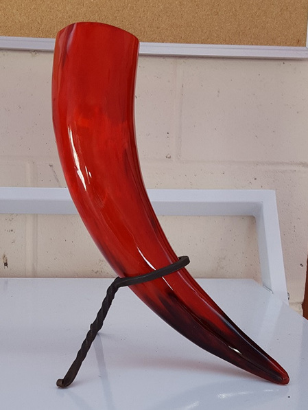 Drinking Horn Type 22 - Red with Black Accents