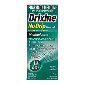 DRIXINE NO DRIP MENTHOL PUMP SPRAY 15ML