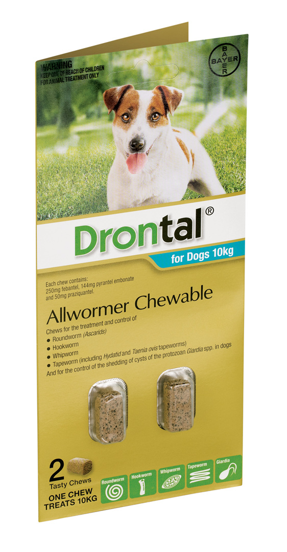 Drontal® Allwormer Chewable for Dogs 10kg or 35kg