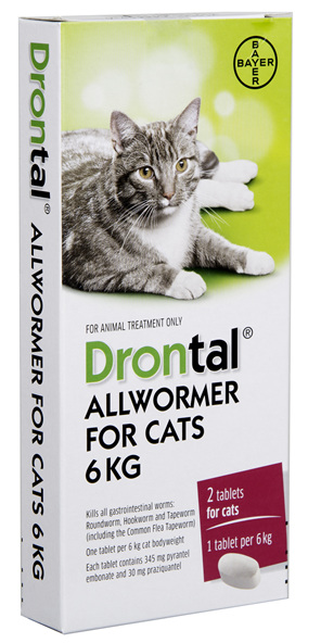 Drontal® Allwormer For Cats 4kg or 6kg