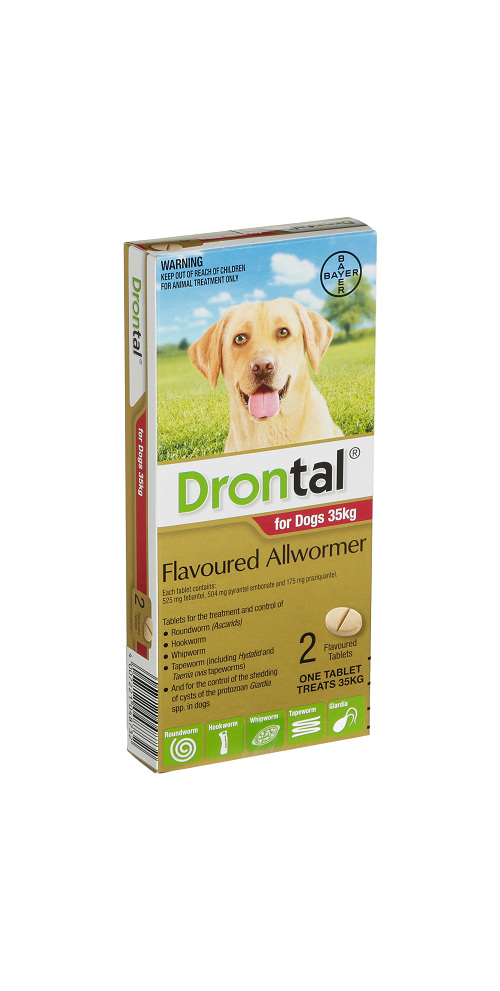 Drontal® Flavoured Allwormer for Dogs 10kg or 35kg