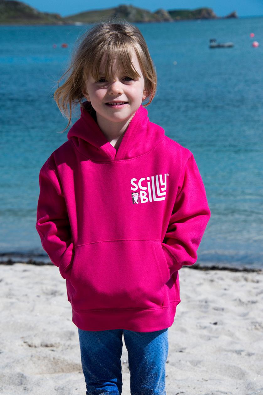 Kids Fuchsia Pink hoodie
