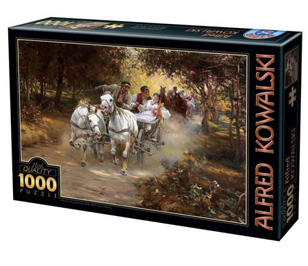 Dtoys 1000 Piece Jigsaw Puzzle:  Alfred Wierusz-Kowalski - Country Wedding