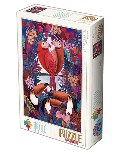 Dtoys 1000 Piece Jigsaw Puzzle:  Andrea Kurti - Tropical