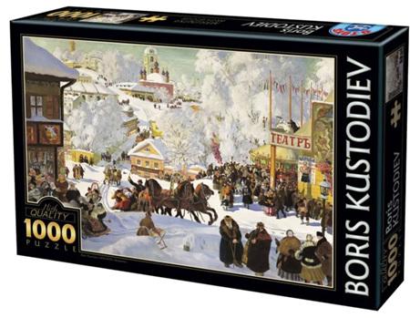 Dtoys 1000 Piece Jigsaw Puzzle: Kustodiev - Maslenitsa