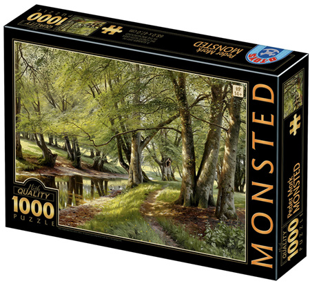 Dtoys 1000 Piece Jigsaw Puzzle: Mønsted - A Summer Day in the Forest with Deer