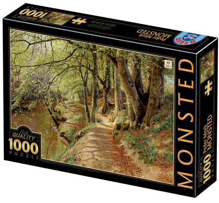 Dtoys 1000 Piece Jigsaw Puzzle: Peder Mørk Mønsted - A Spring Day in the Woods