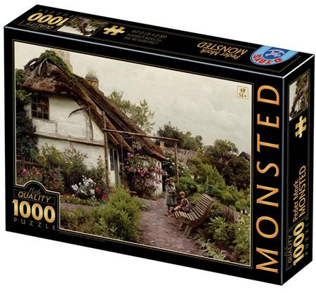 Dtoys 1000 Piece Jigsaw Puzzle: Peder Mørk Mønsted - Children in the Flower Garden