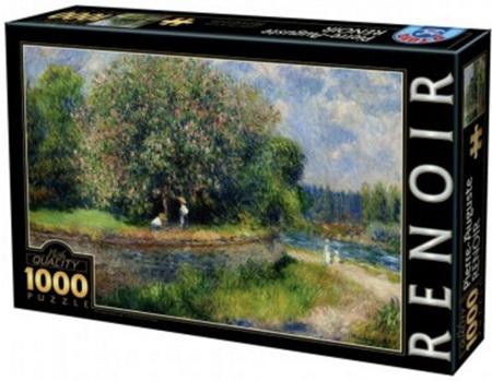 Dtoys 1000 Piece Jigsaw Puzzle:  Renoir - Chestnut Tree In Bloom