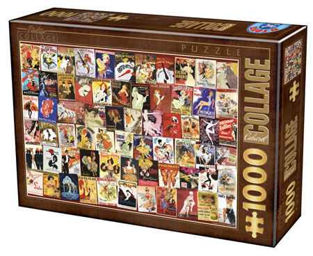 Dtoys 1000 Piece Jigsaw Puzzle:  Vintage Collage - Cabaret