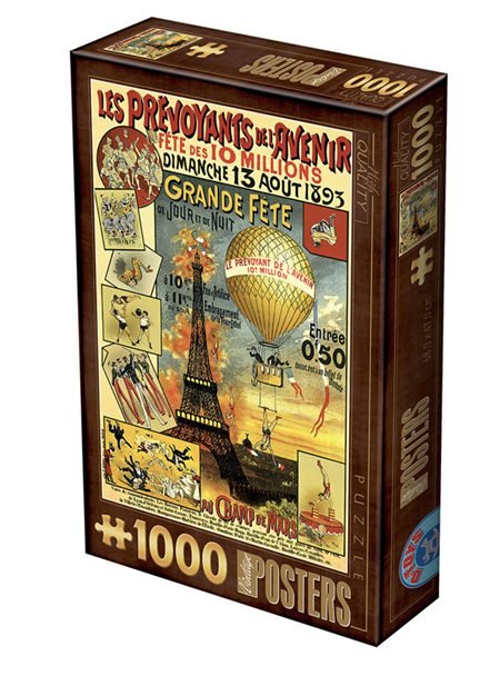 Dtoys 1000 Piece Jigsaw Puzzle:  Vintage Poster - Paris