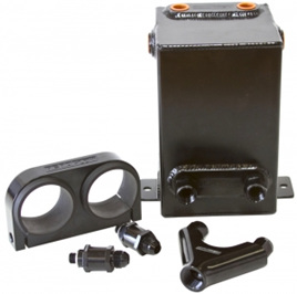 Dual EFI Pump Surge Tank Kit - Black