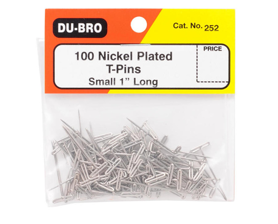 Dubro T-Pins 1' 100 Piece #252