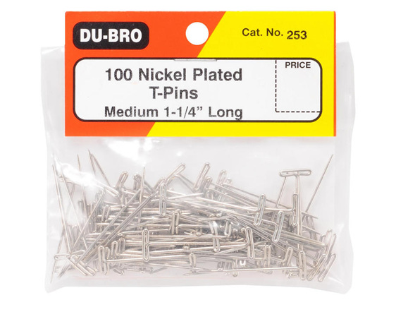 Dubro T-Pins 1.25' 100 Piece #253