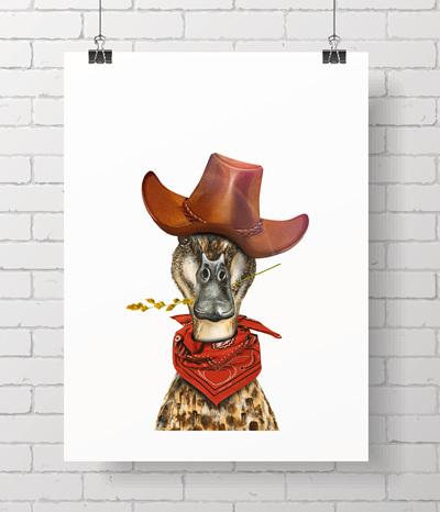 duck - cowboy
