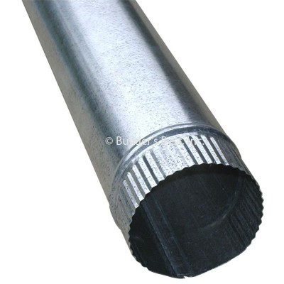 Two 900mm x 125mm Galvanised Steel Pipes