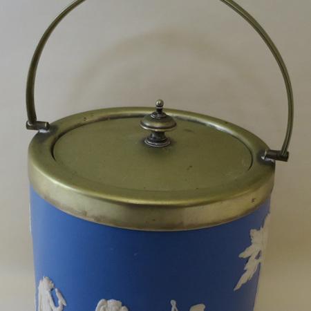 Dudson jasper ware biscuit barrel