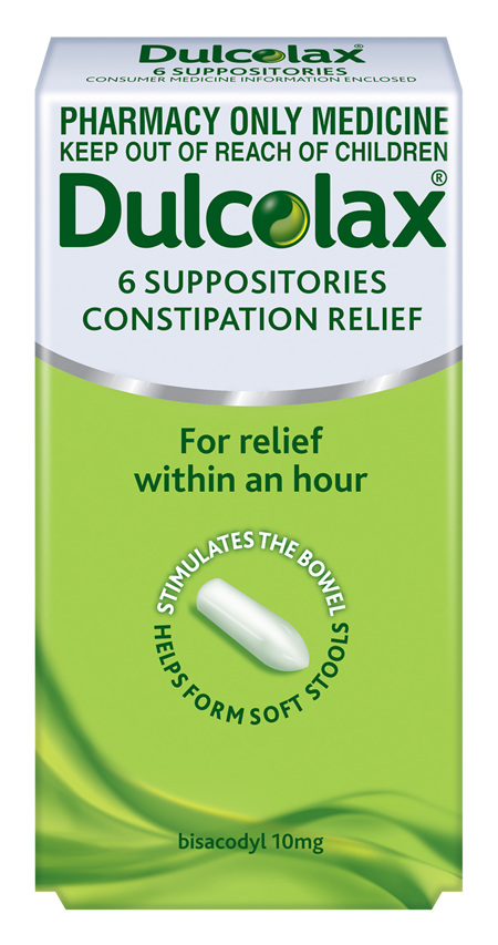 Dulcolax 10mg Suppositories - 6 Suppositories