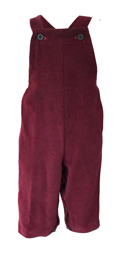 Dungarees in 'Wine' 100% Cotton  Corduroy, 6-9m