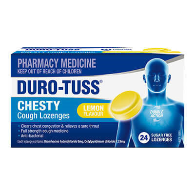 Duro-Tuss Chesty Cough Sugar Free Lozenges Lemon