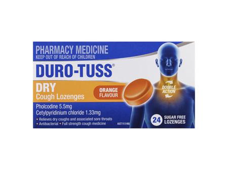 DURO-TUSS Dry Cough Lozenges Orange 24 Lozenges