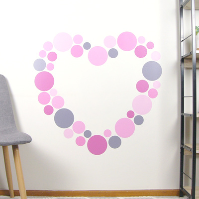 Dusky Pink dots wall decal