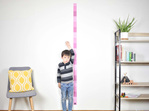 Dusky Pink skinny height chart wall decal