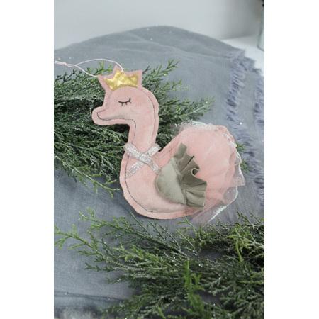 Dusky pink swan decoration