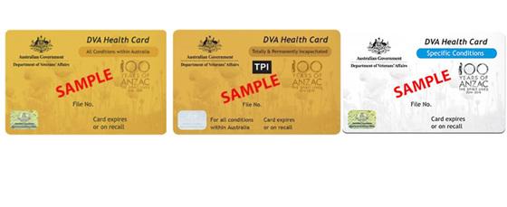 DVA GOLD CARD and DVA WHITE CARD