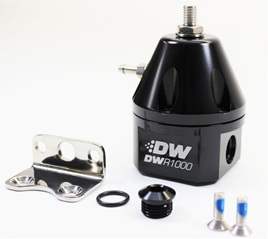 DWR1000 Adjustable Fuel Pressure Regulator - Black