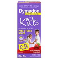 Dymadon 2-12 Years Strawberry 200mL