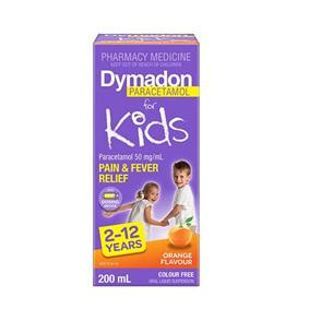 DYMADON 2-12YR COLOURFREE ORANGE 200ML