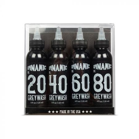 Dynamic Greywash Tattoo Ink Set —  4oz Bottles