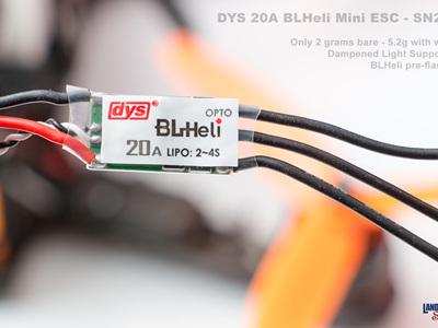 DYS 20A BLHeli Mini ESC - SN20a- SimonK B/L