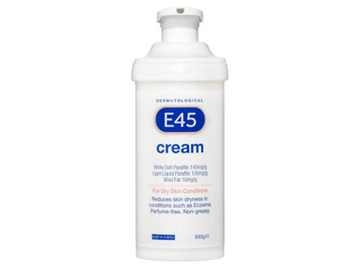 E45 Moisturising Cream Pump 500g