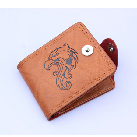 EAGLE PU LEATHER MENS WALLET