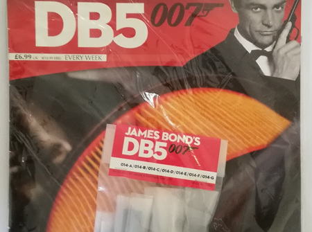 Eaglemoss 1/8 James Bond DB5 Weekly Magazine Issue 14