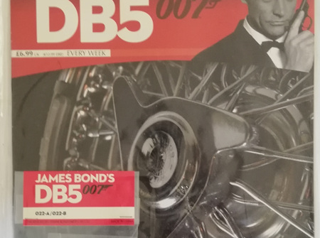 Eaglemoss 1/8 James Bond DB5 Weekly Magazine Issue 22