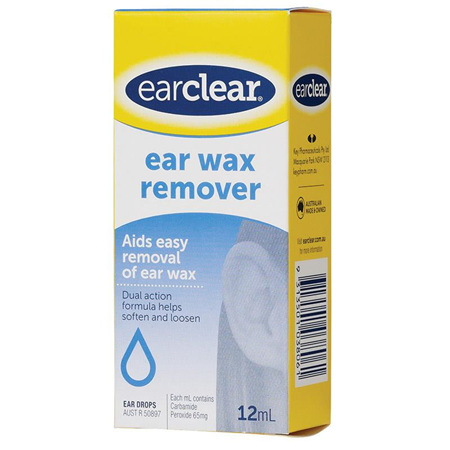 EarClear Ear Wax Remover Drops 12ml