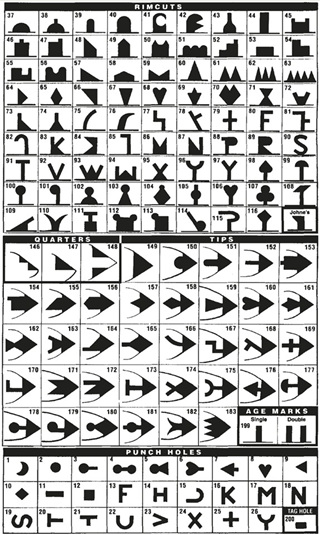 Earmarker Chart of Designs