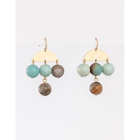 Earring Beads Grey Chandlier