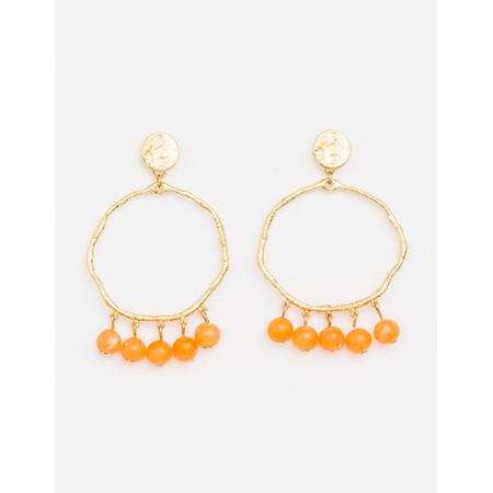 Earring Boho hoops citrus balls