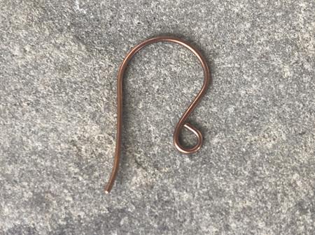 Earring hooks - .8mm - Oxidised bronze - large