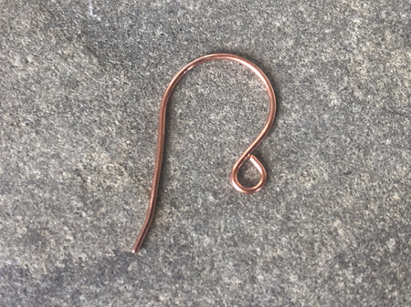 Earring hooks - .8mm - Raw copper - large