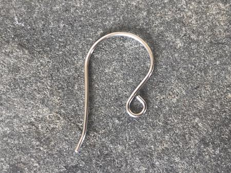 Earring hooks - .8mm - sterling silver - large