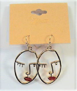 Earrings - Abstract Face