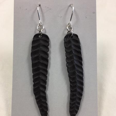 Earrings - Fern - Black